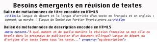 besoins emergents revision textes metadonnées referencement html5