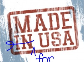 made for USA stamp