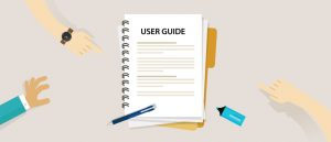 user guide document on table book manual
