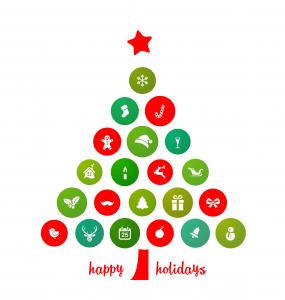 Holiday Card, Christmas tree