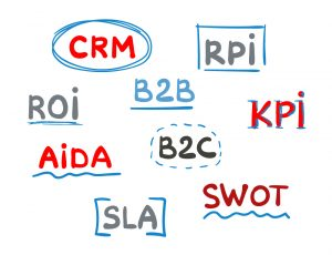 Image shows multiple acronyms